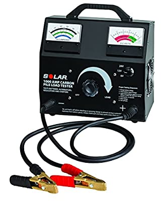 SOLAR 1850 125 Amp Analog Fixed Load Battery Tester from Clore Automotive