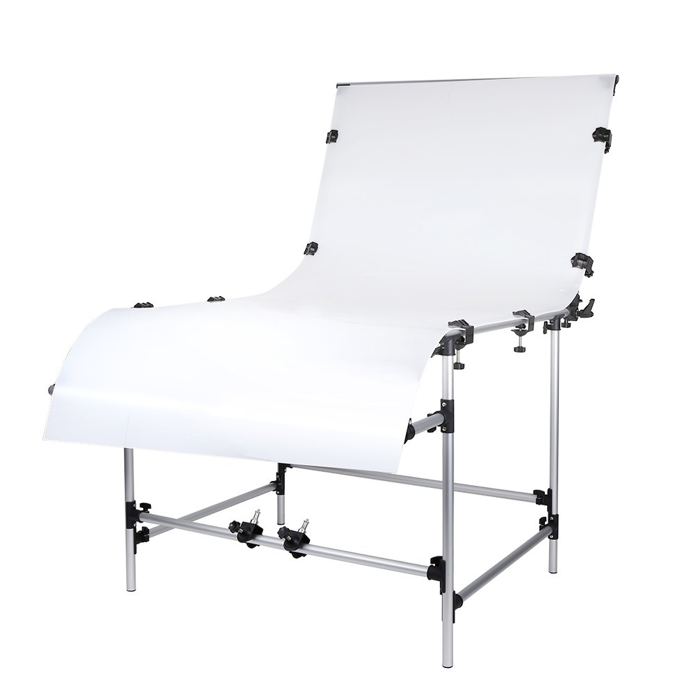 Andoer 100 x 200cm Photo Studio Photography Shooting Table for Still Life Product Shooting Aluminum Alloy Frame by Andoer