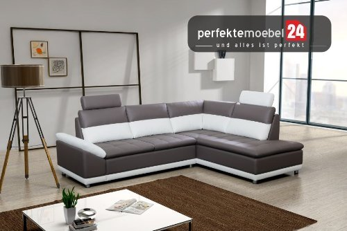Couch mit Schlaffunktion Eckcouch Sofa Polstergarnitur MANILLA Wohnlandschaft (antara)
