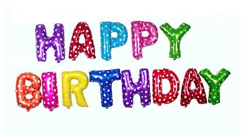 Sunshine Happy Birthday Foil Ballon, Long Lasting (Multi-color)