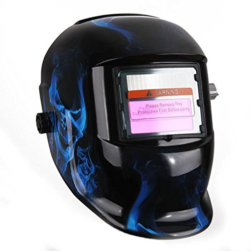 SODIAL Obscure-Variable Blue Crane Welding Mask with Auto-Darkening LCD Filter for ARC TIG MIG Welder