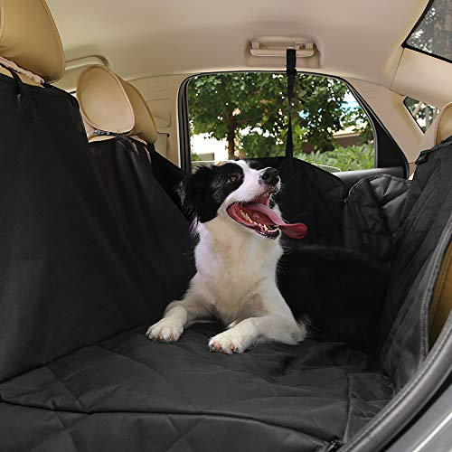 Cozzine Dog Car Seat Covers, Pet Seat Cover for Cars Trucks SUV, Waterproof Durable Convertible Hammock