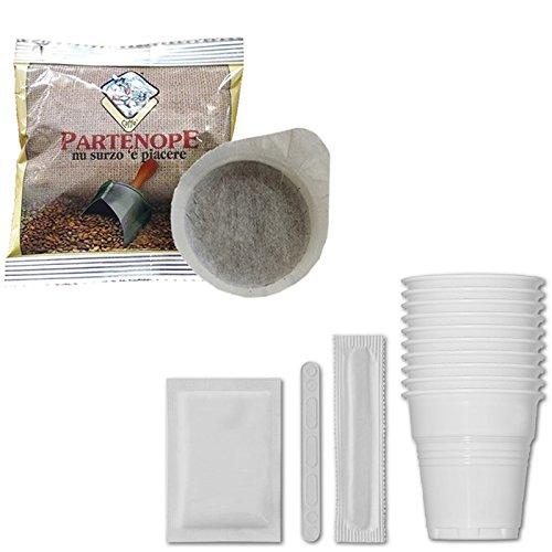 100 Waffles Partenope Espresso + Kit Tazas, sartenes, azúcar - Paquete de 150 Waffles + KIT: Amazon.es: Alimentación y bebidas