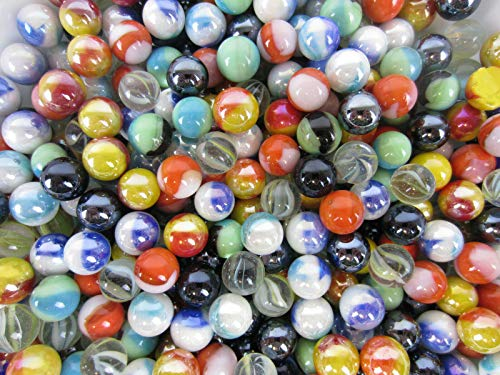 FidgetKute Glass Pee Wee 12mm Marbles (Set of 50) from Bulk Assorted Lot Show One Size