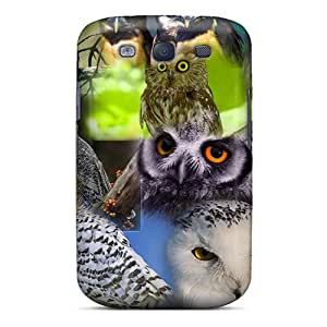 For QPN6615jWug Owl Collage Protective Case Cover Skin/galaxy S3 Case Cover