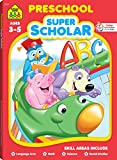 img - for School Zone - Preschool Super Scholar Workbook - 128 Pages, Ages 3 to 5, Preschool to Kindergarten, Alphabet, Numbers 1-12, Colors, Shapes, Math, Science, and More book / textbook / text book