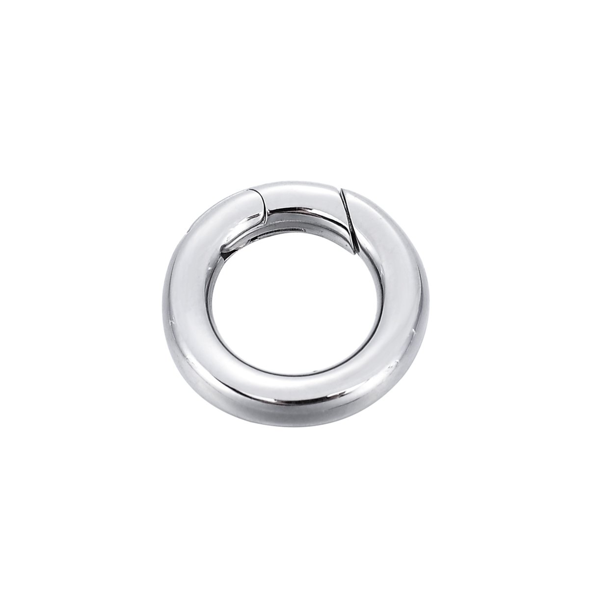 1PCS Stainless Steel Polished Round Enhancer Shortener Ring Spring Clasp for Jewellery Making 14.5mm Yin Feng 0AF0SA0G0M