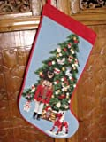 Gorgeous Handmade Christmas Wool Needlepoint Stocking D