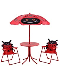 Red Fabric 210D Oxford Cloth Kid Picnic Table With Ebook