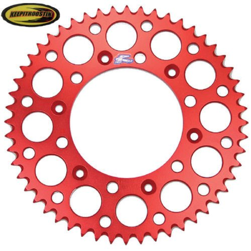 (Renthal Rear Wheel Sprocket Red 48T with Keepitroostin Sticker Fits Honda Cr125 Cr250 CR500 Crf250 Crf450 1987-2014)