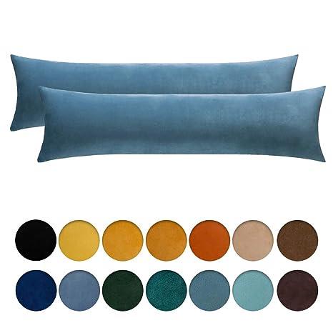 MIULEE Pack de 2 Fundas para Cojines Protectore Terciopelo Suave Juego de Mesa de Manta de decoración Cuadrado de Almohada Funda cojín para sofá ...