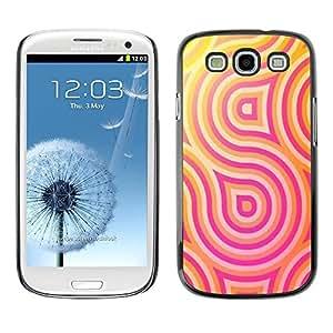 FECELL CITY // Duro Aluminio Pegatina PC Caso decorativo Funda Carcasa de Protección para Samsung Galaxy S3 I9300 // Lines Psychedelic Happy Hip
