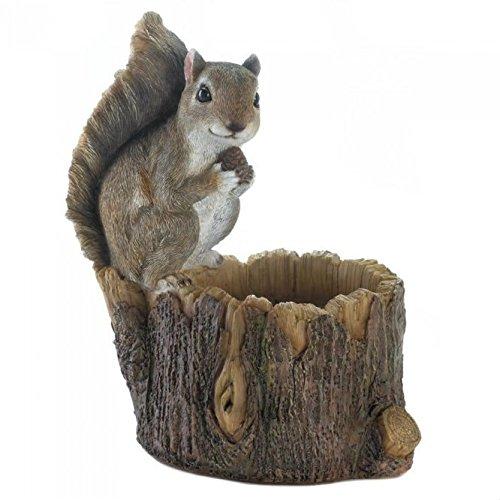 Gallery of Light Inc Squirrel with Tree Trunk Bird Feeder