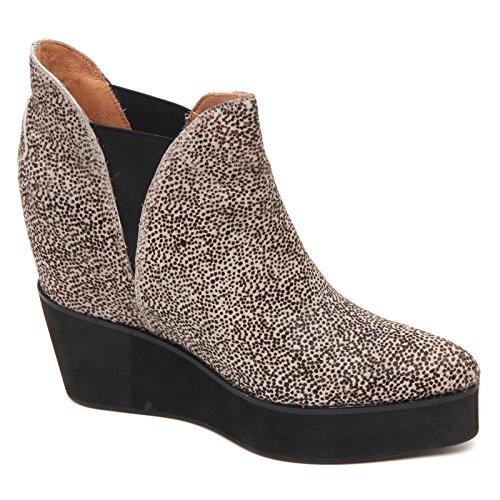 D2214 tronchetto donna JEFFREY CAMPBELL PRIYA beige/nero shoe boot woman beige/nero