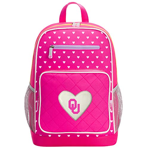 The Northwest Company Officially Licensed NCAA Oklahoma Sooners Fanclub Backpack, Pink, 18