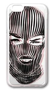 Zheng caseWENJORS Uncommon Badwood 3D Ski Mask Soft Case Protective Shell Cell Phone Cover For Apple Iphone 6 (4.7 Inch) - TPU Transparent