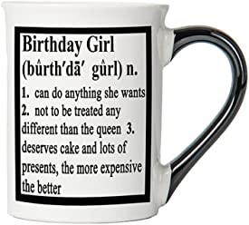 Birthday Girl Mug, Birthday Girl Coffee Cup, Ceramic Birthday Girl Mug, Custom Birthday Girl Gifts By Tumbleweed