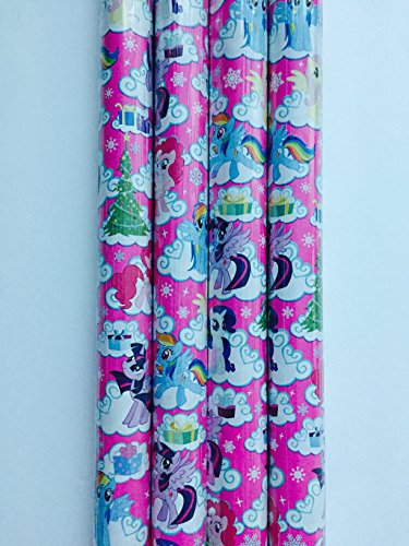 Gift Wrap - Holiday My Little Pony Themed - Wrapping Paper - 1 Roll - 20 sq -