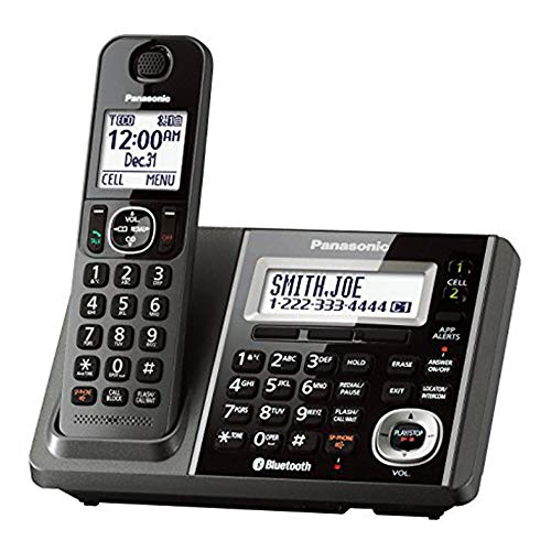 Panasonic KX-TGF370M Link2Cell-Bluetooth Cordless Phones w Answering Machine (Renewed)
