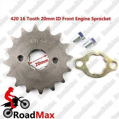 FidgetGear 420 16T Denti 20 mm Albero pignone Anteriore Cambio 50 70 90 110 125 140 CC Pit Bike SSR