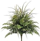 House of Silk Flowers Artificial 24-inch Pothos/Grass/Fern Mixed Bush