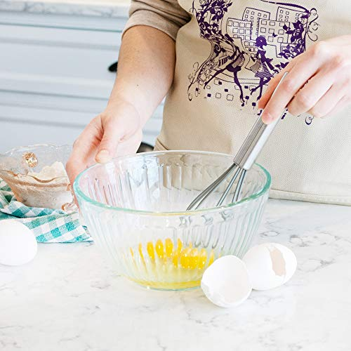 DRAGONN Set of 3 Gray Silicone Whisks with Stainless Steel Handles, Milk & Egg Beater, Balloon Whisk for Blending, Whisking, Beating, and Stirring (DN-KW-WK3G)