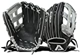 Akadema Prosoft Elite Series Baseball Outfielders Gloves, Black/Silver, Left Hand