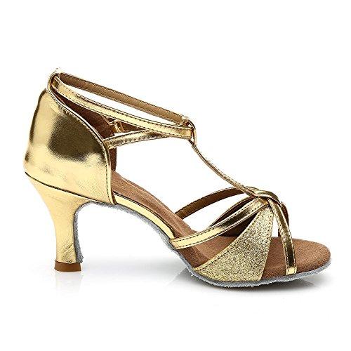 Damen Ballsaal Latein Salsa Tanz Schuhe Standard & Latein stil 255 Gold/Heel1.95¡±