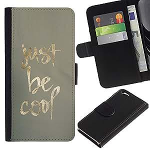 All Phone Most Case / Oferta Especial Cáscara Funda de cuero Monedero Cubierta de proteccion Caso / Wallet Case for Apple Iphone 6 // Be Cool Just Gold Fabric Pattern Minimalist