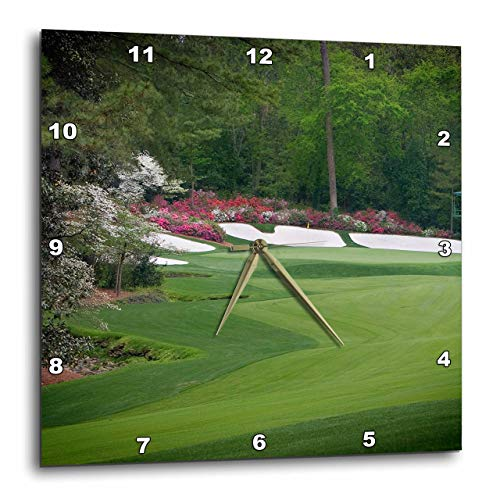 (3dRose DPP_131408_2 Augustas Amen Corner Golf Course Where Dreams are Made and Lost Ii Wall Clock, 13 by 13-Inch)