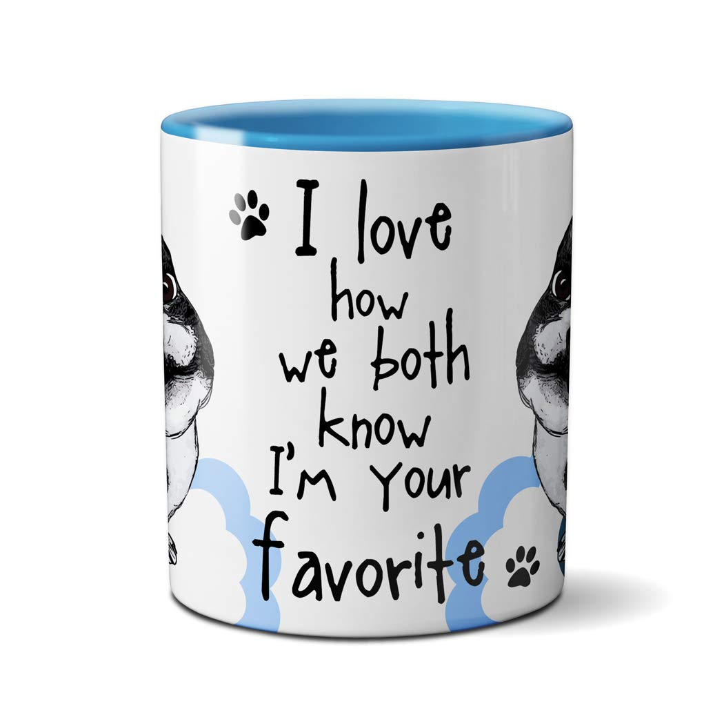 One Single 11oz Blue Coffee Cup Your Favorite French Bulldog Mug by Pithitude