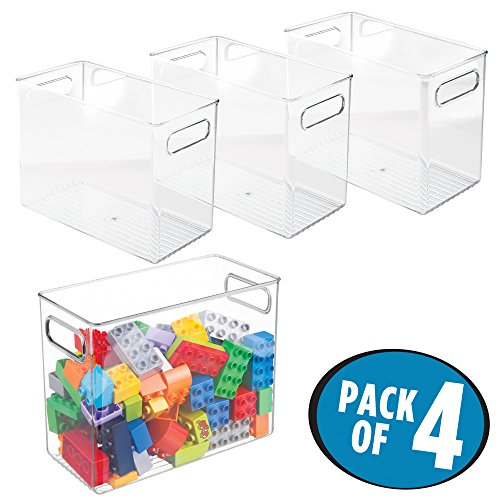 mDesign Toy Storage and Organization Bin for Blocks, Games, Action Figures - Pack of 4, 10