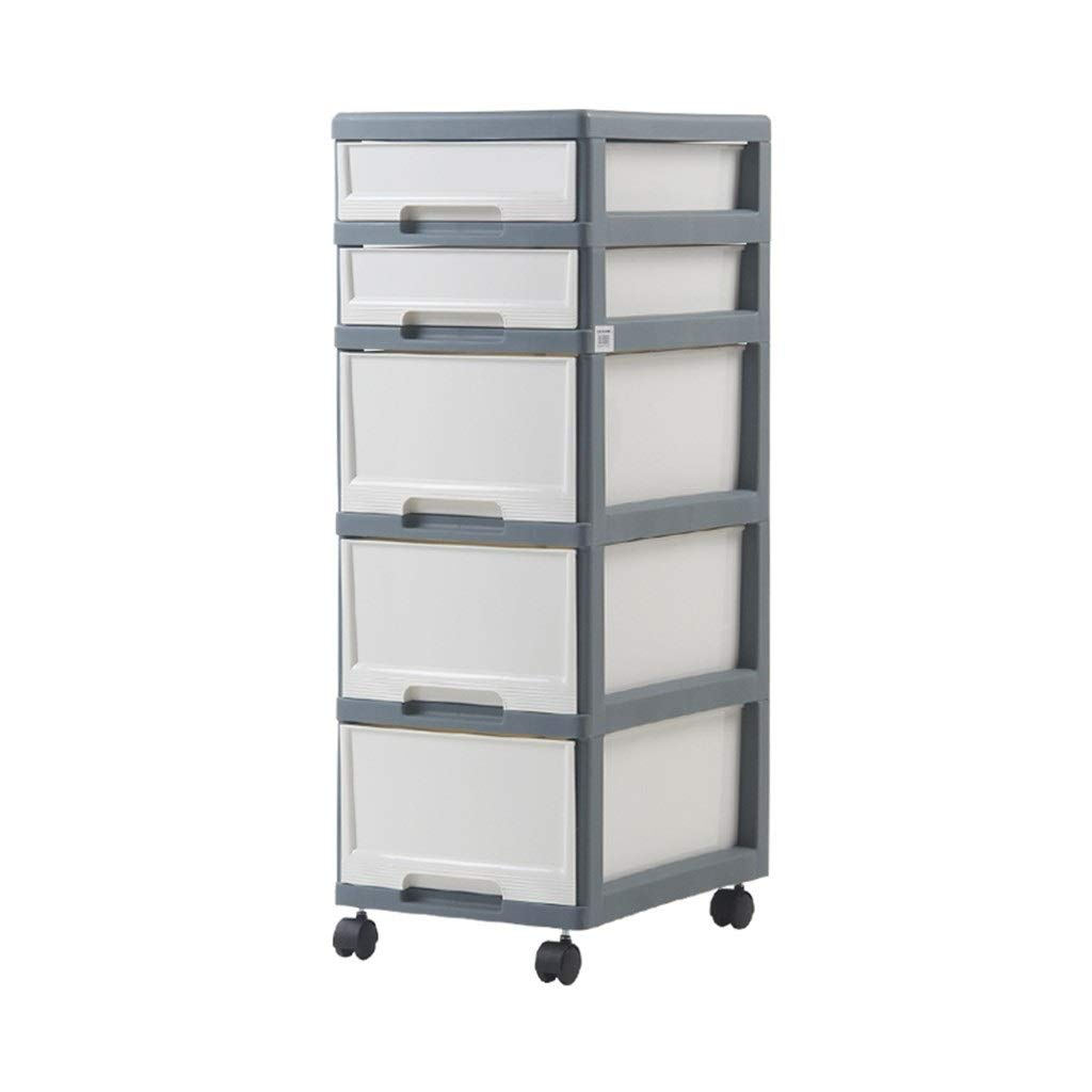 Zzg-2 Office Storage Box, Drawer Type File Sundries Storage Box Plastic with Pulley It Can Move Finishing Cabinet Chest of Drawers (Size : 334392.5CM)
