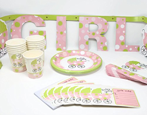 ITS-A-GIRL-BABY-SHOWER-PARTY-PACK-EVERYTHING-YOU-NEED-FOR-A-CELEBRATION-FOR-THE-NEW-MOM-Matching-Invitations-Luncheon-Plates-with-Napkins-Beverage-Cups-and-Baby-Shower-Banner