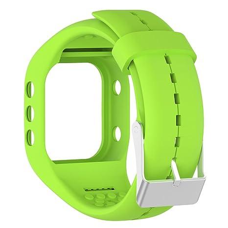 Beimaji Trade Bracelet de remplacement en silicone souple Pour montre connectée Polar A300 Longueur réglable, Green: Amazon.fr: Sports et Loisirs