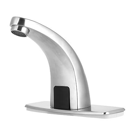 Grifo automático del sensor Grifo del fregadero del lavabo del baño, sensor electrónico fregadero sin