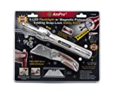 Ampro T19735 6-LED Flashlight with Magnetic Pickup and Folding Snap-Lock Utility Knife