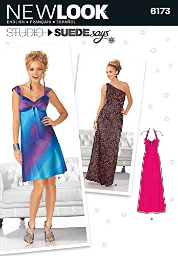 New Look Ladies Sewing Pattern 6173 Empire Line Evening Dresses