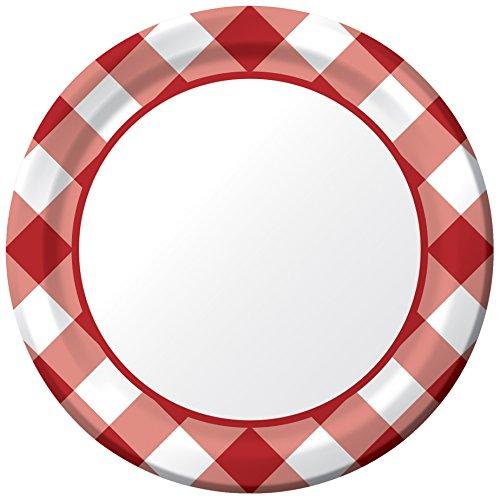 Creative Converting Dessert Plates Gingham