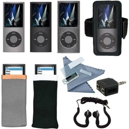 DreamGear i.Sound 11-in-1 Accessory Kit for iPod Nano 4G - Earbuds - Arm Band - Cases (4g Crystal Case Nano)
