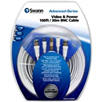 Swann SWADS-30MBNC-GL Video and Power 100-Feet BNC Cable (White)