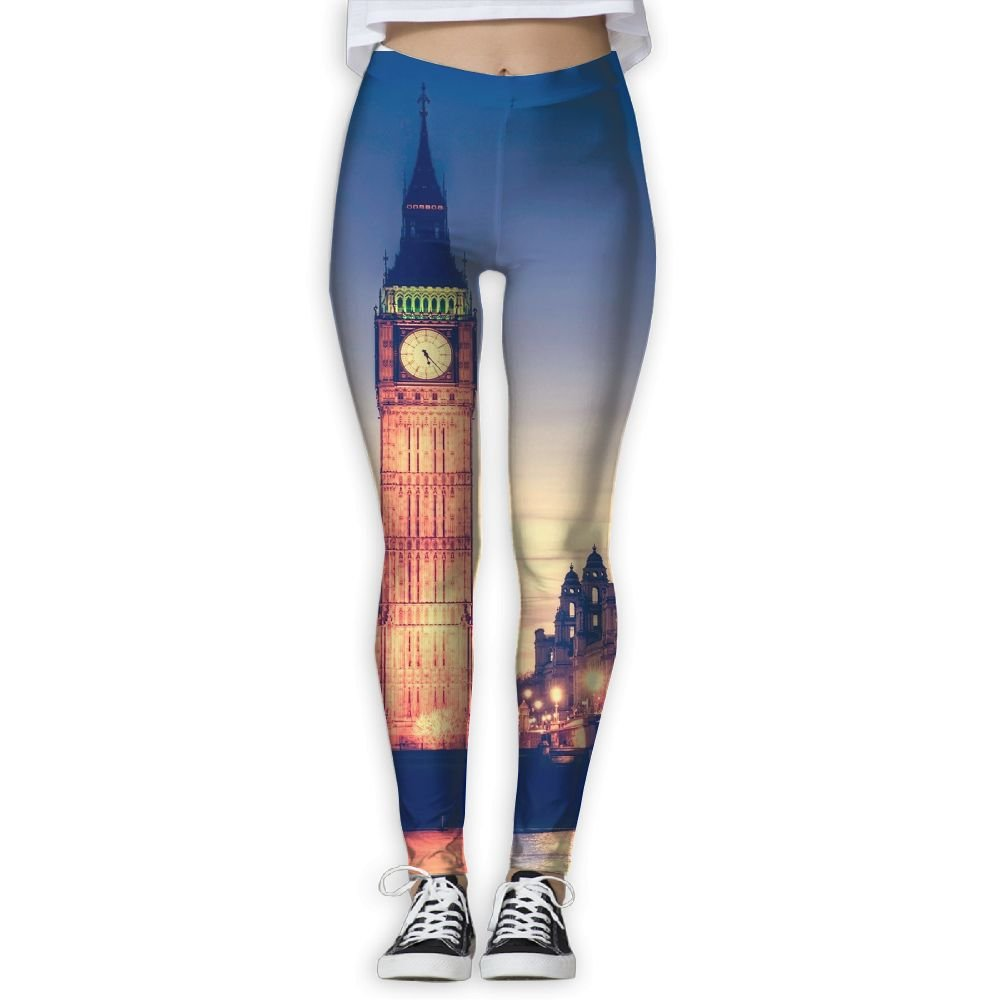 Amazon.com: Cooby Roman Womens Yoga Leggings Pants London ...