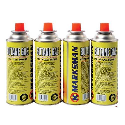 4 Butane Gas Bottles Heater Cooker Canister Camping BBQ Home St@llion