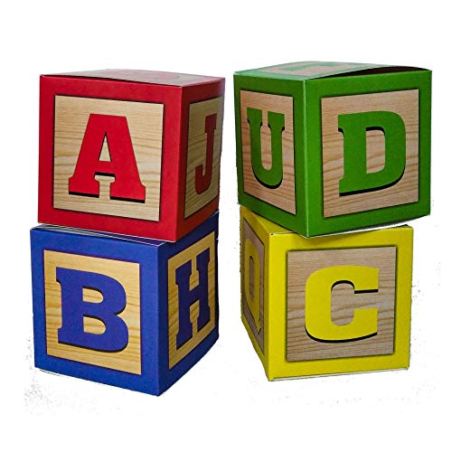 Party Drop Box ABC Blocks Party Favor Boxes (Toy Sesame Street Box)