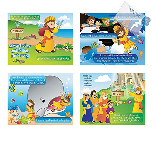 Bargain World Jonah & the Whale Sticker Scenes (With Sticky Notes) ()