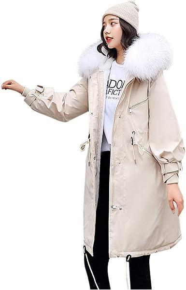 Poachers Abrigos Mujer Elegantes Chaqueta de algodón con Capucha ...
