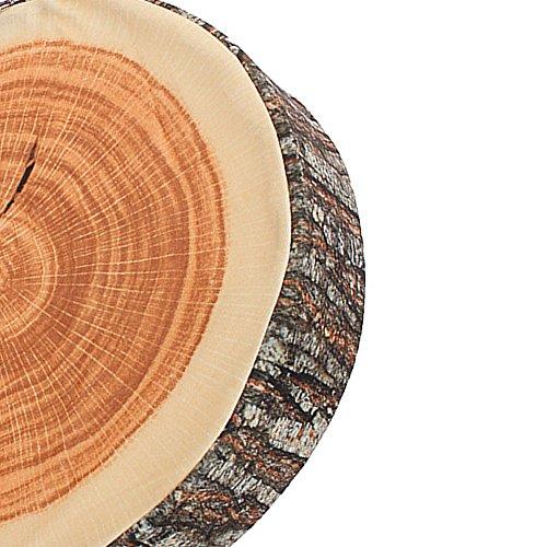 BQLZR Brown Wood Tree Round Soft Plush Chair Seat Cushion Decorative Throw Pillow Tree Ring Back Cushion by BQLZR (Image #3)
