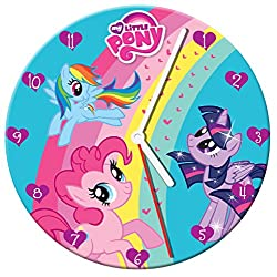 Vandor 42089 My Little Pony Cordless Wood Wall Clock, 13.5-Inch, Multicolored