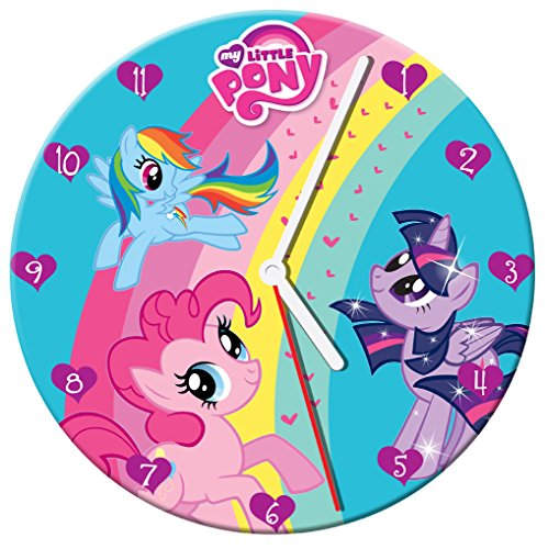 Vandor 42089 My Little Pony Cordless Wood Wall Clock, 13.5-Inch, Multicolored