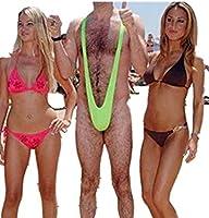 generic sexy borat mankini costume swimsuit mens swimwear thong one size fits for all  green smiffy u0027s men u0027s borat mankini green one size  amazon ca  clothing      rh   amazon ca